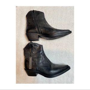 New Emanuel Crasto Italian Leather Cowboy Booties